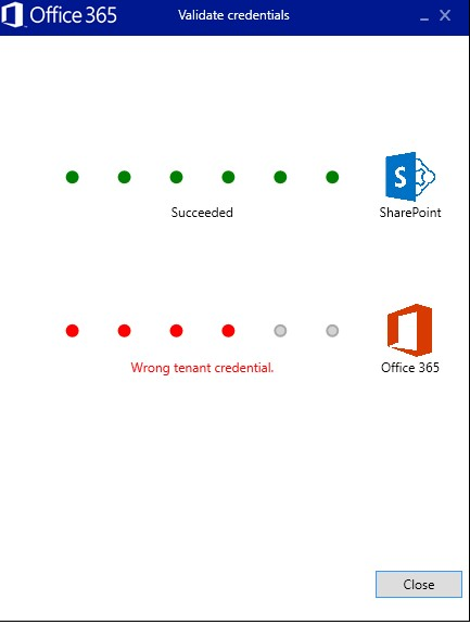 Fix the wrong tenant credential error in SharePoint online