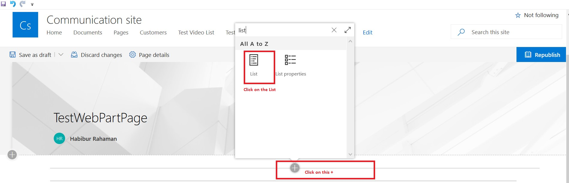 Connect list view web part in SharePoint Online
