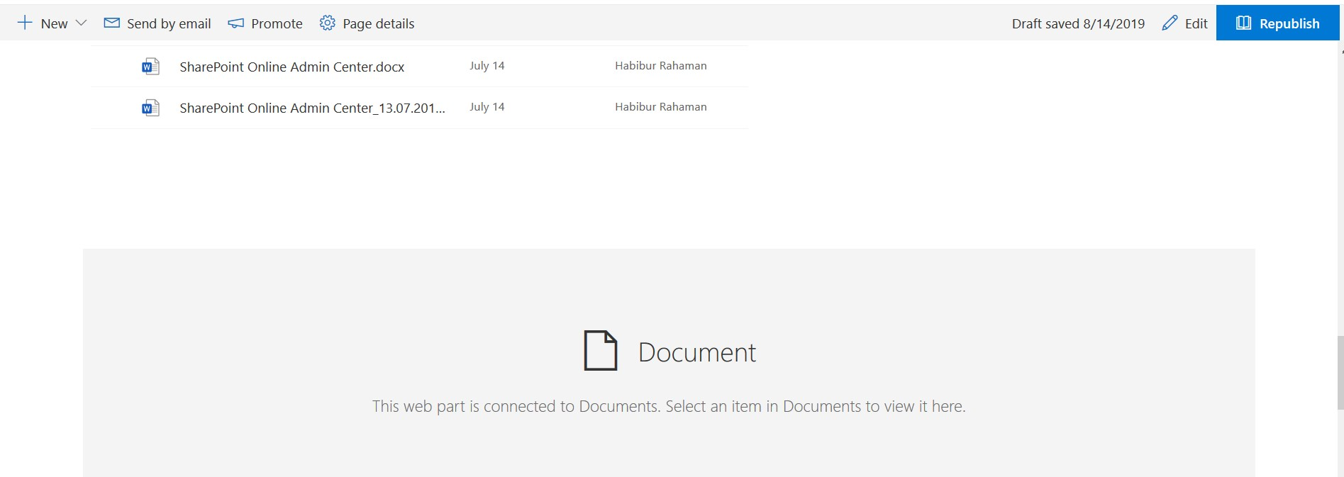 Configure file viewer web part in SharePoint Online
