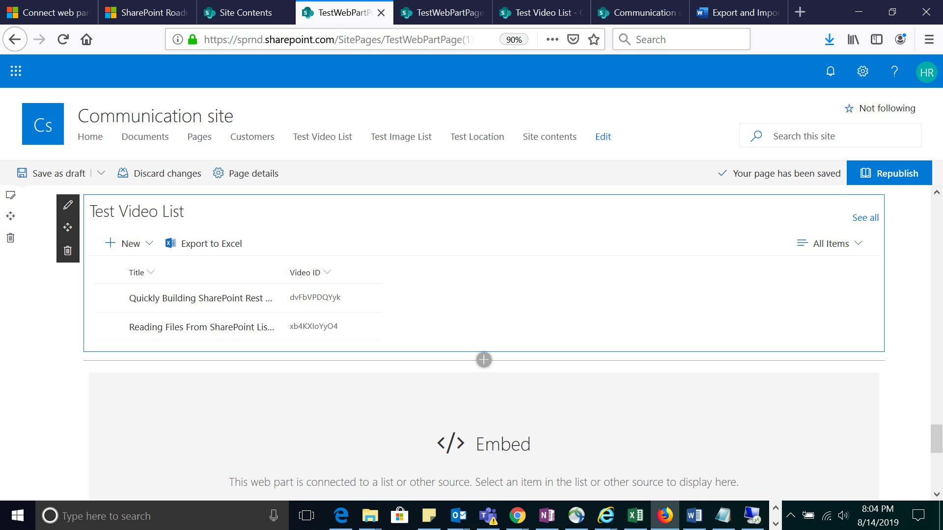 Youtube video in SharePoint online list