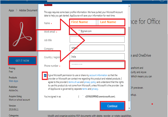 Terms and Conditions - GET IT NOW - Adobe Document Cloud PDF Experience for Office 365