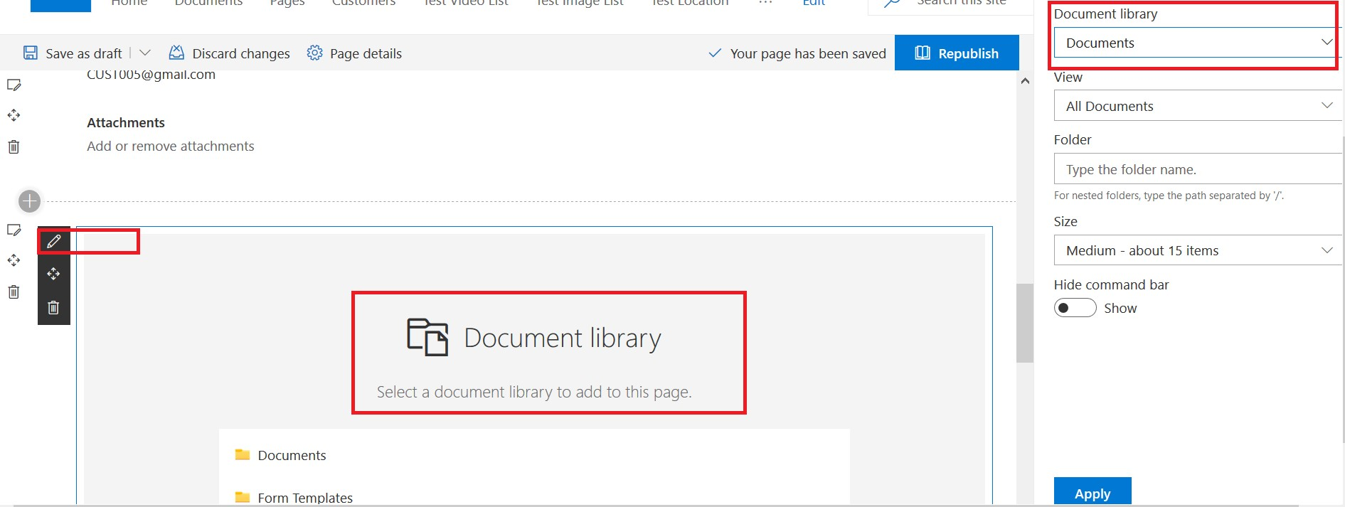 Connect a File viewer web part to a Document library web part(show selected file)