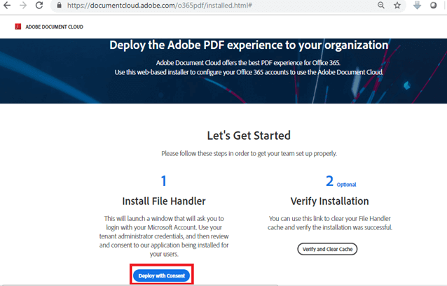 Deploy as an administrator - Deploy the Adobe PDF experience to your organization