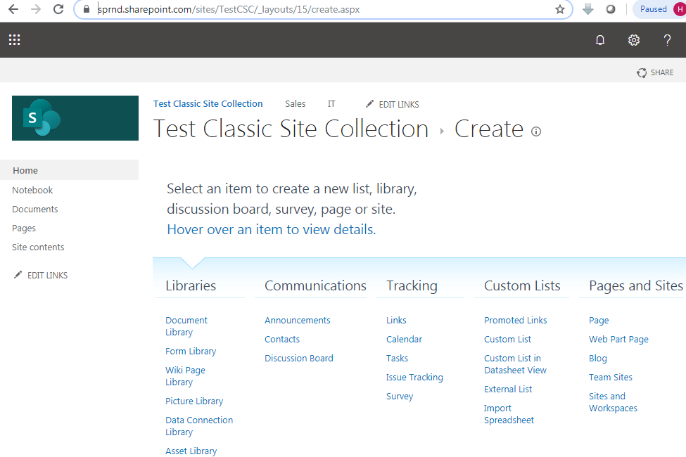 Create aspx page in SharePoint online