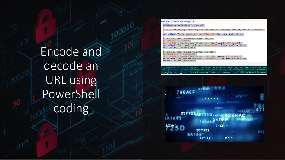 Encode and decode an URL using PowerShell coding