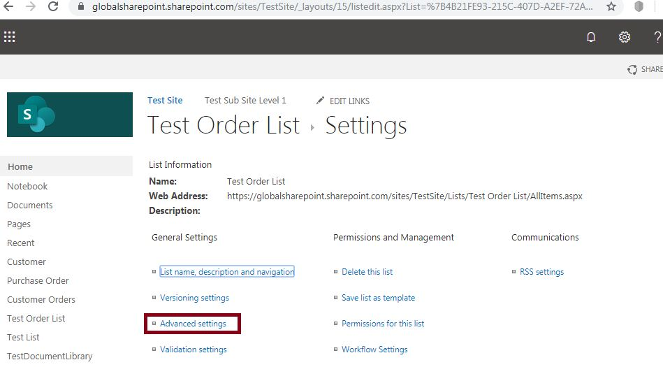 Disableorenableattachmentslistitems-SharePoint Online2