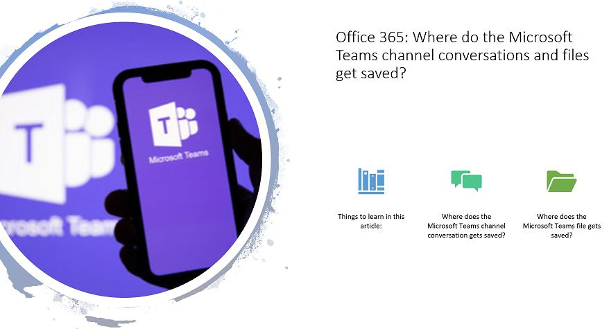 Office 365 - Where do the Microsoft Teams channel conversations and files get saved