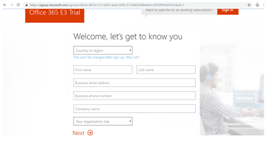 Office 365 E3 Trial - SharePoint admin center in Office 365