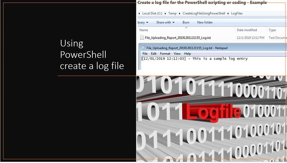 Using PowerShell create a log file