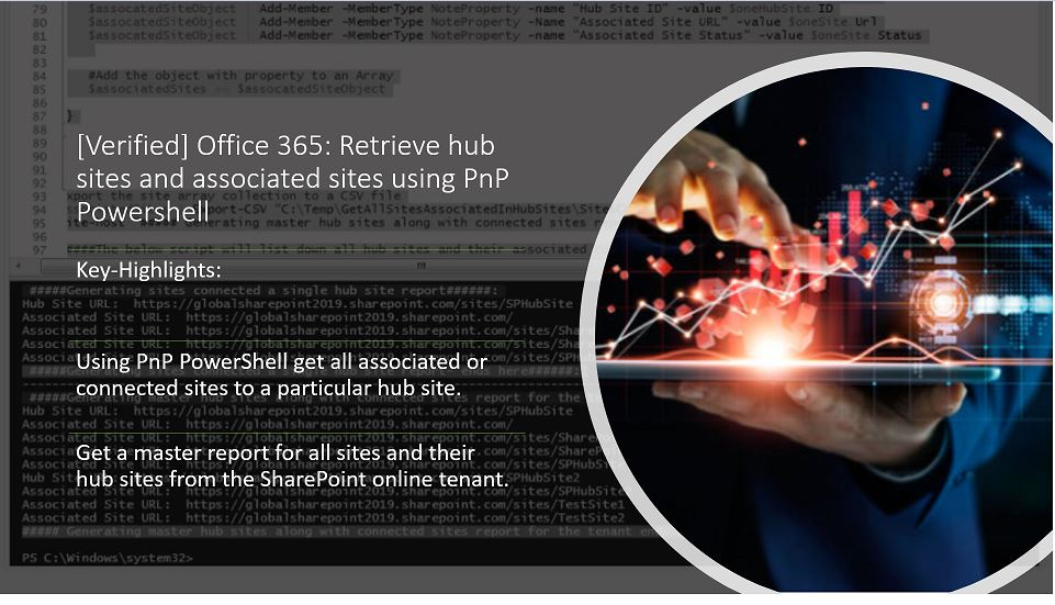 [Verified] Office 365: Retrieve hub sites and associated sites using PnP Powershell