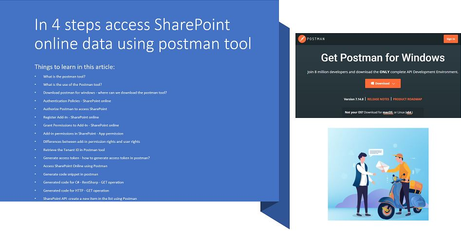 In 4 steps access SharePoint online data using postman tool
