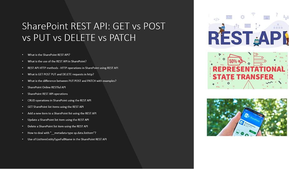 SharePoint REST API: GET vs POST vs PUT vs DELETE vs PATCH