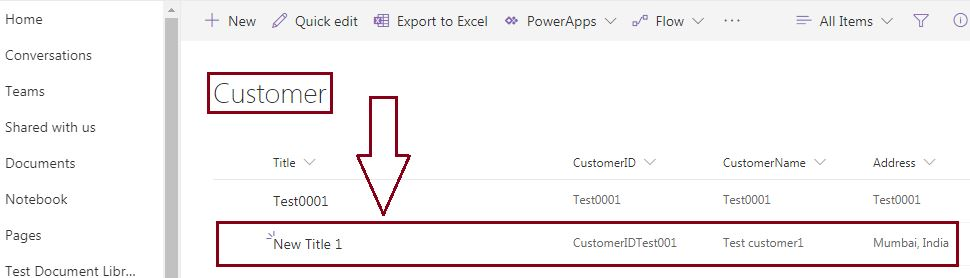 New item is added to SharePoint online list: SharePoint REST API - create new item in the list using Postman