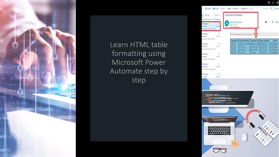 Learn HTML table formatting using Microsoft Power Automate step by step
