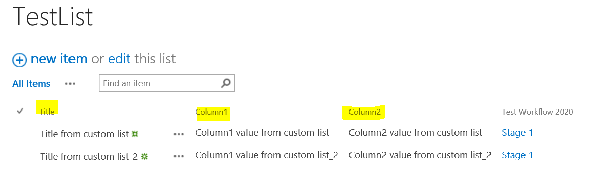 Copy List Item To Another List Using Designer Workflow
