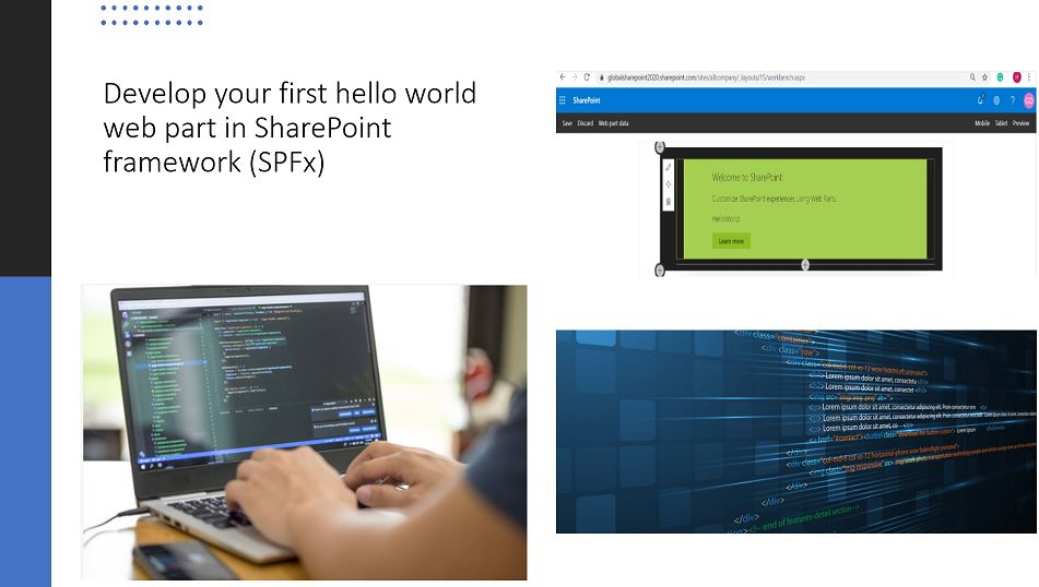 Develop your first hello world web part in SharePoint framework (SPFx)