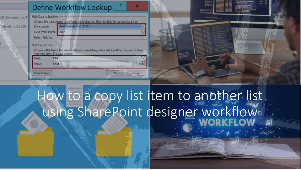 How to a copy list item to another list using SharePoint designer workflow