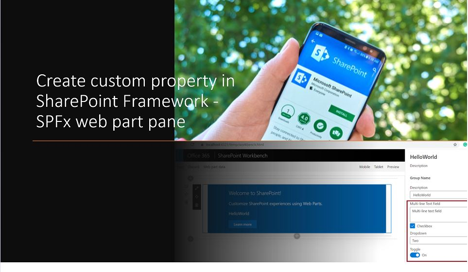 Create custom property in SharePoint Framework - SPFx web part pane