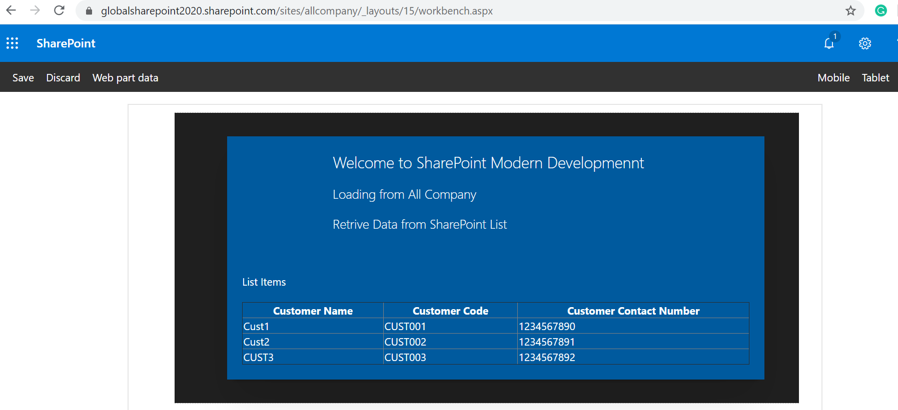 Get SharePoint List Items using SPFx no javascript framework - Display Data