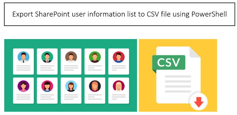 Export SharePoint user information list to CSV(Excel) file using PowerShell