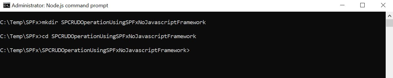 SharePoint CRUD Operation using SPFx No JavaScript Framework