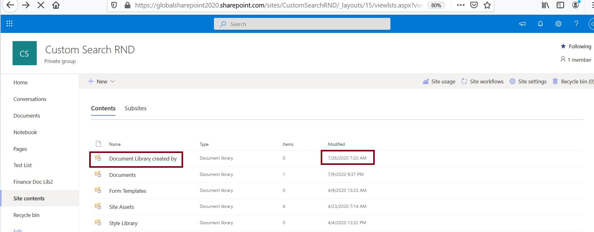 Create document library in SharePoint Online using PowerShell script