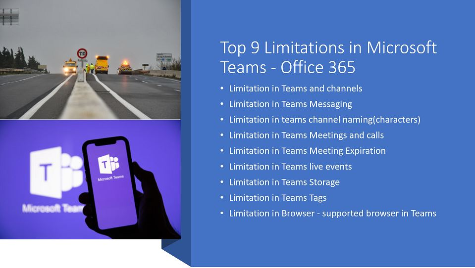Top 9 Limitations in Microsoft Teams - Office 365