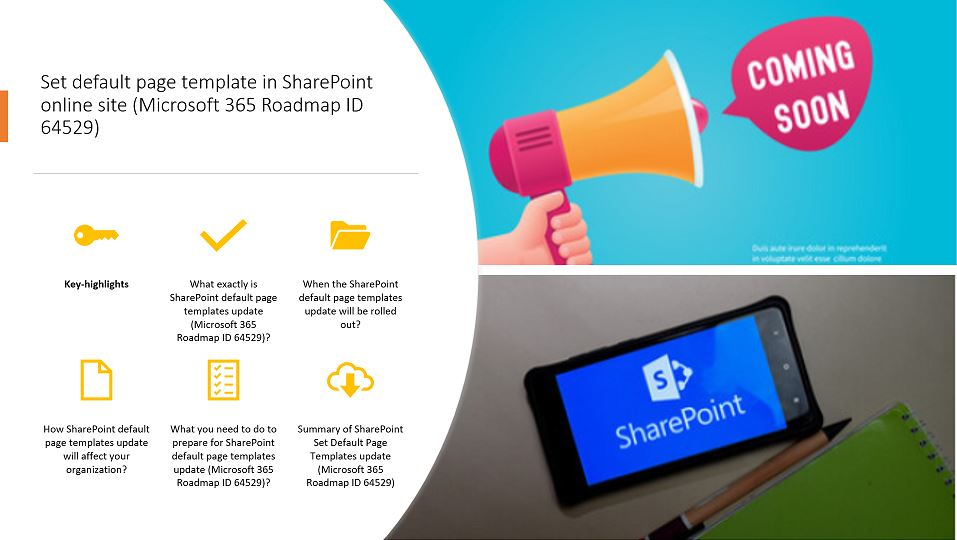 Set default page template in SharePoint online site (Microsoft 365 Roadmap ID 64529)