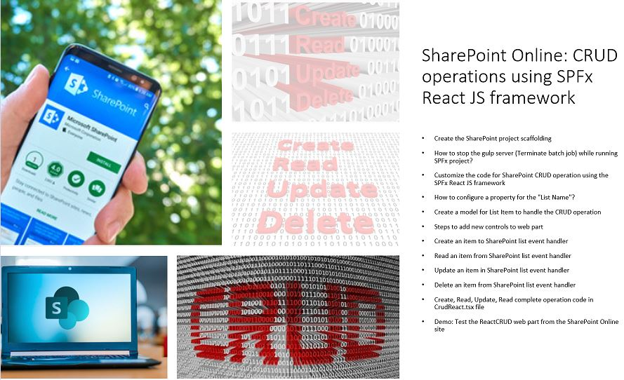 CRUD operation in SharePoint Online list using the SPFx React JS framework
