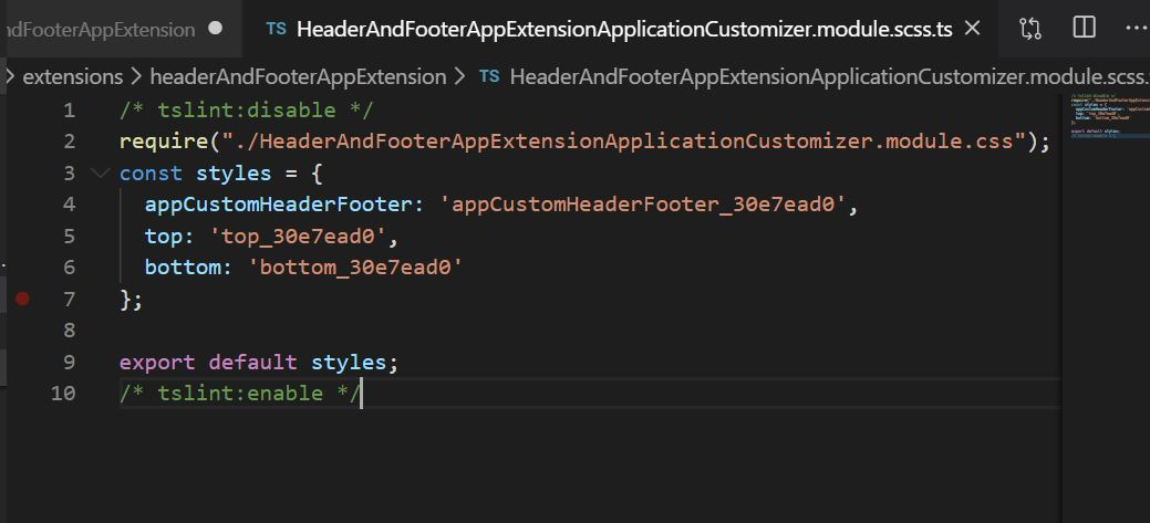 Application Custom Header Footer CSS in SPFx framework