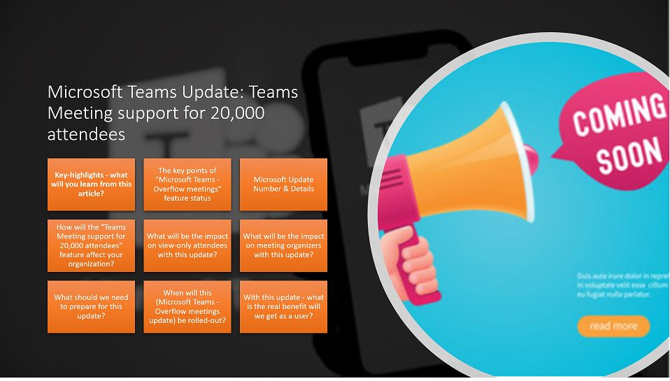Microsoft Teams Update - Teams Meeting support for 20,000 attendees