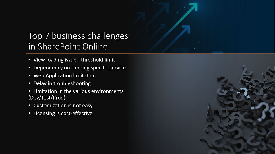 Top 7 business challenges in SharePoint Online