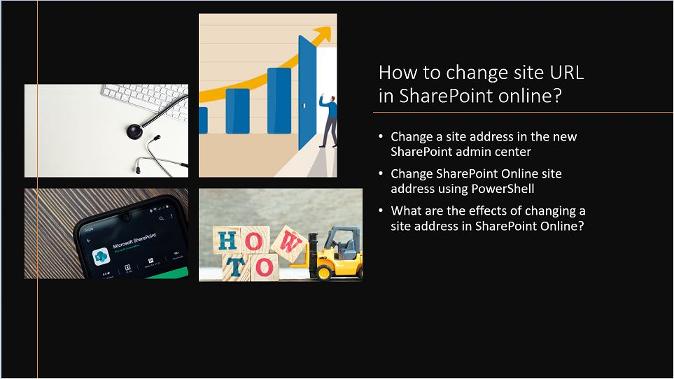 How to change site URL in SharePoint online?