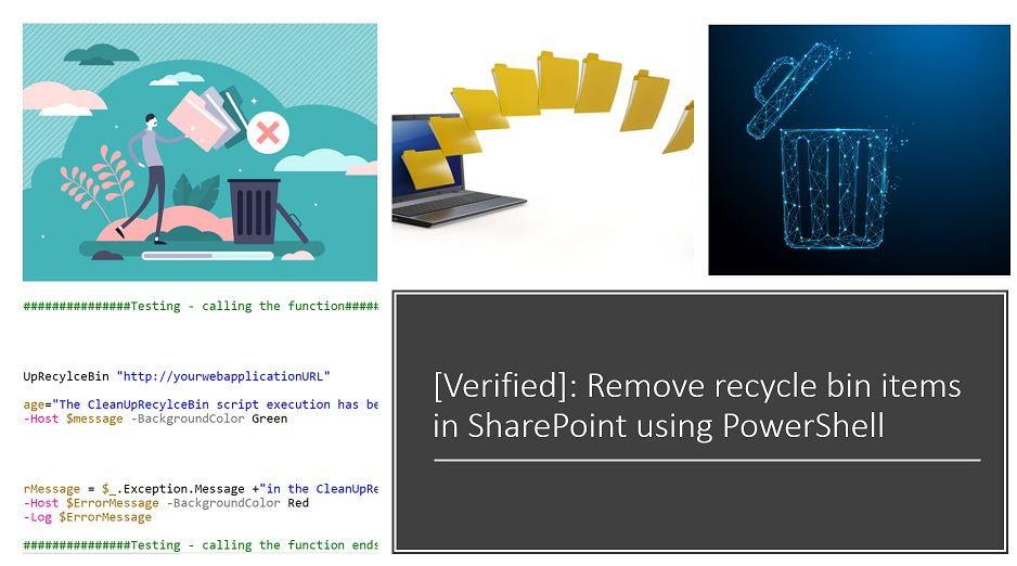 How to remove recycle bin items in SharePoint using PowerShell?