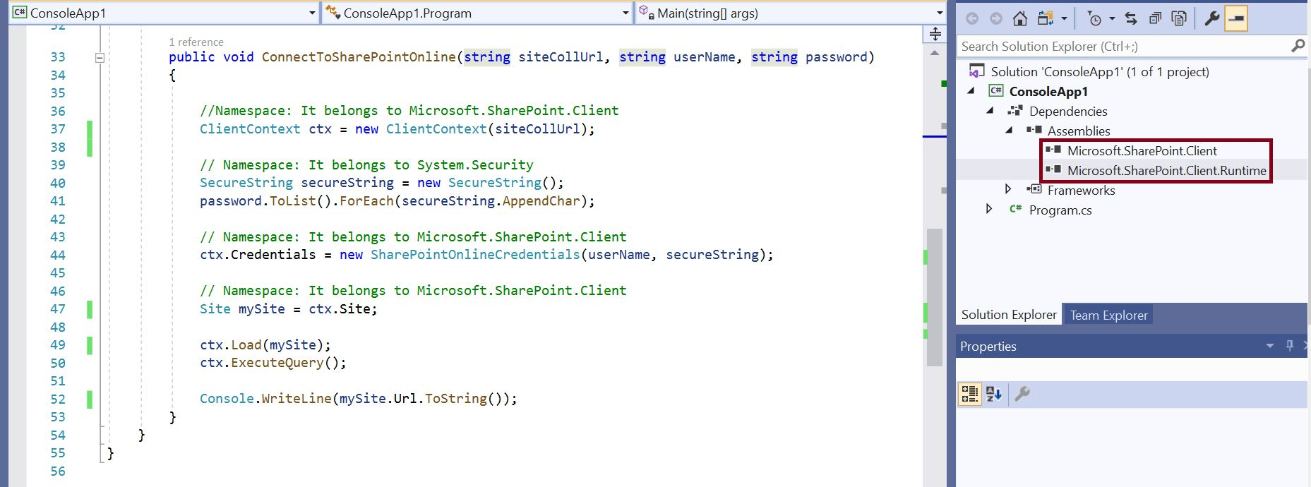 SharePoint Online Runtime DLLs for C# Console