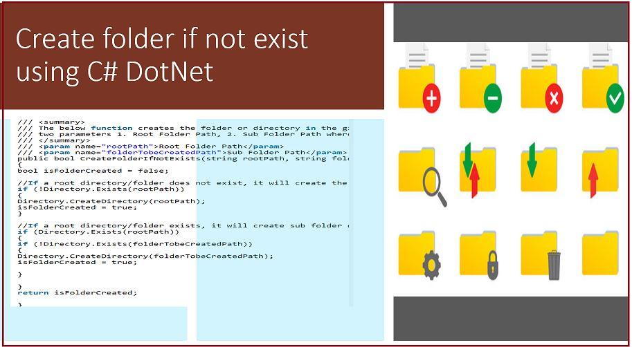 Create folder if not exist using C# DotNet