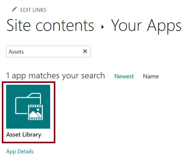 Site Assets library in SharePoint Online communication site