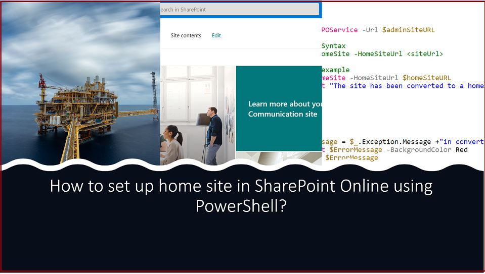 How to set up home site in SharePoint Online using PowerShell?