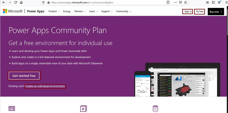 Power Apps Community Plan - Get a free environment for individual use