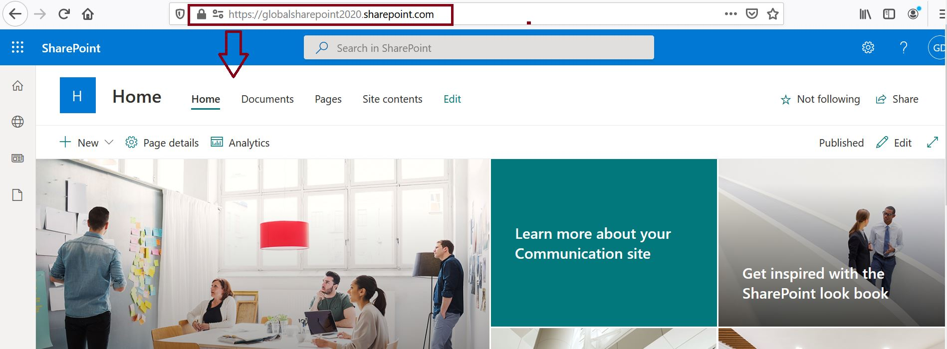 SharePoint Online tenant root site after swapping