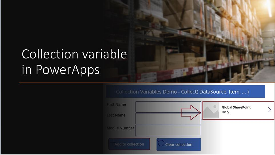 Collection variables in PowerApps - Demo