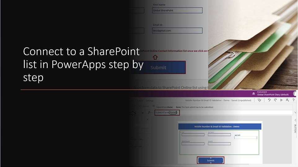 Connect to a SharePoint list in PowerApps step by step