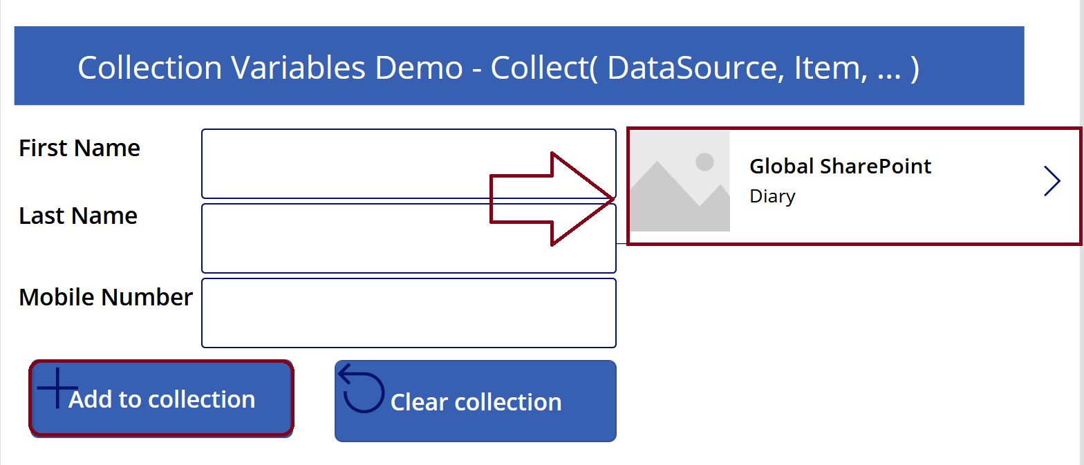 Gallery control demo in PowerApps