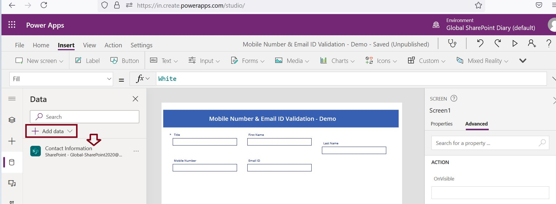 How to add data source to PowerApps Form?