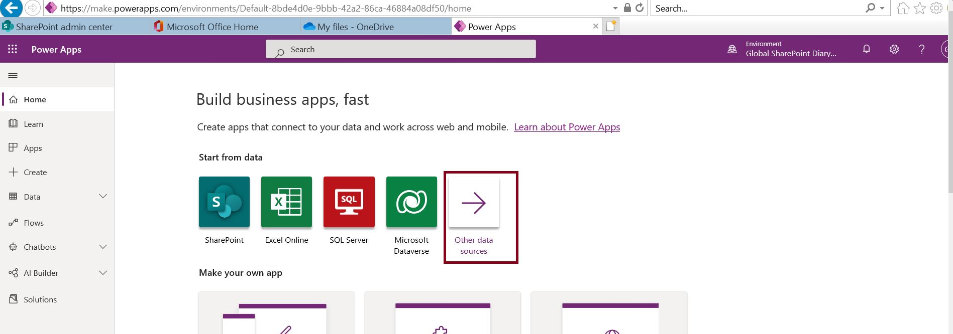 Build your business app faster using PowerApps with OneDrive excel