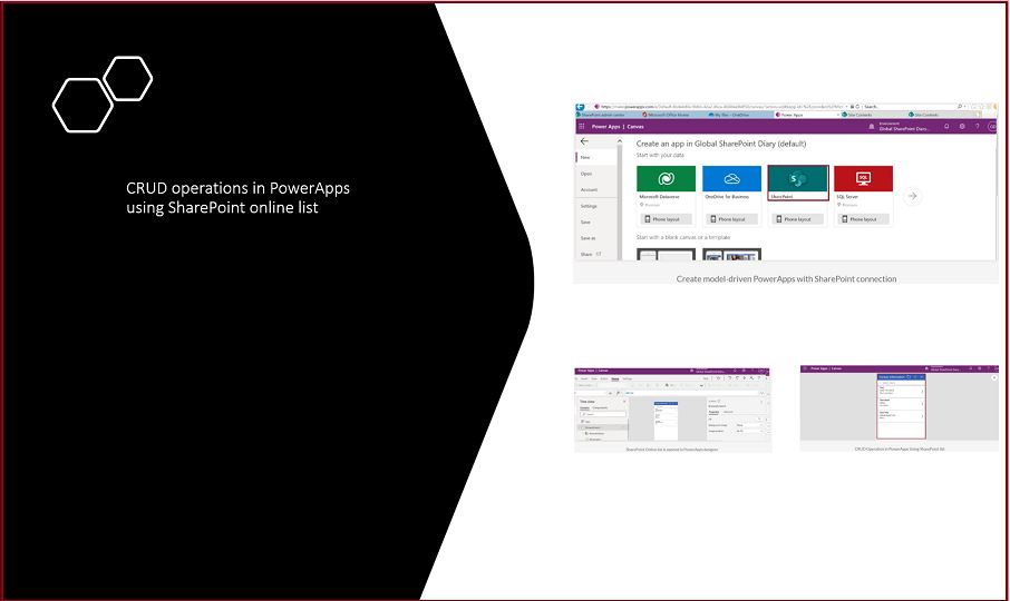 CRUD operations in PowerApps using SharePoint online list