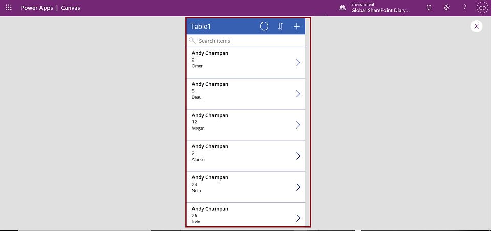 PowerApps model driven app in preview mode
