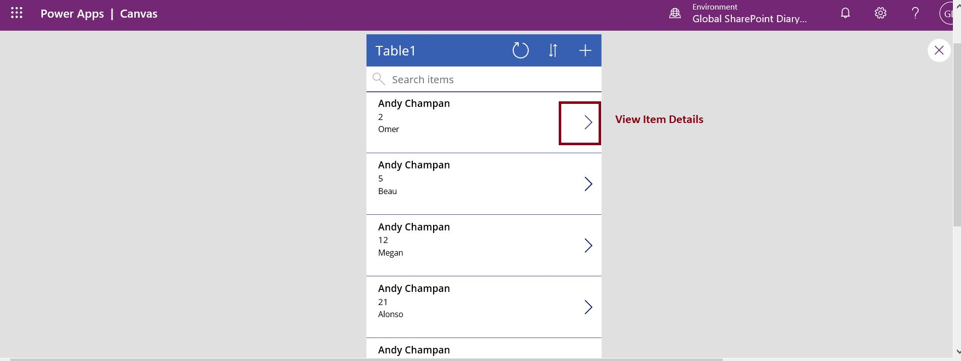 View Item Details button in PowerApps model driven app
