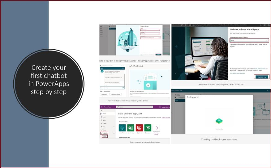 Create your first chatbot in PowerApps step by step demo
