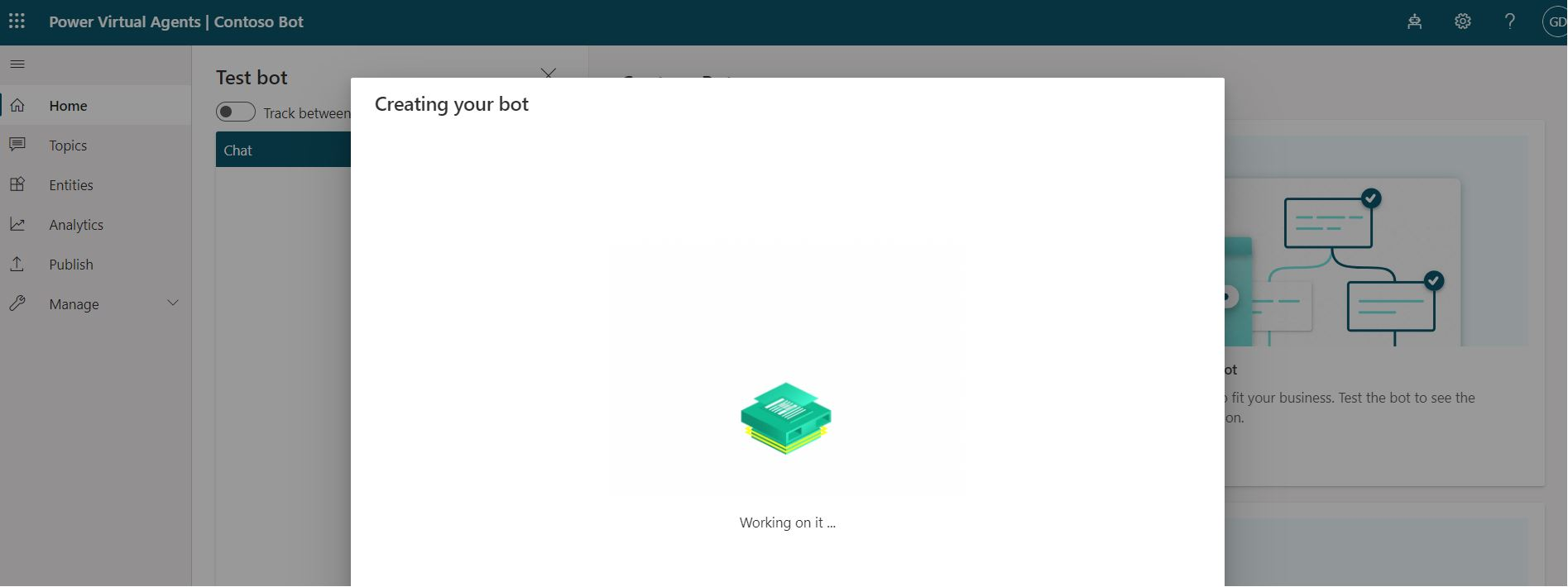 Creating chatbot in process status